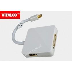 Adapter wt. mini DisplayPort/gn.HDMI+gn.DVI+gn.DisplayPort HDA630 Vitalco