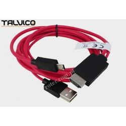 Przyłącze wtyk HDMI/wtyk USB A + wtyk mikro USB 2,0m HDK901 Talvico