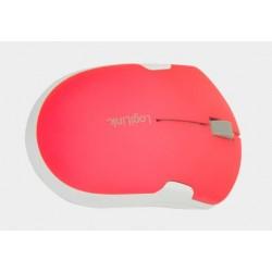 Bezprzewodowa mysz optyczna, podróżna z funkcją autolink czerwona