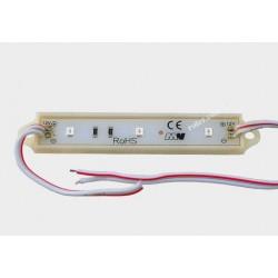 Moduł LED 3 diody SMD 2835 czerwone 0,72W 12V IP65
