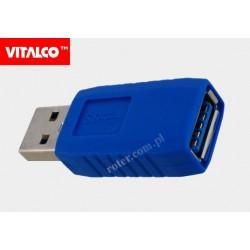 Adapter wtyk USB A/gniazdo USB A 3.0 Vitalco