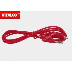 Przewód banan-krokodylek czerwony NMP342 1,5m Vitalco