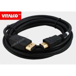 Przyłącze Display port/HDMI 3,0m DP12 Vitalco