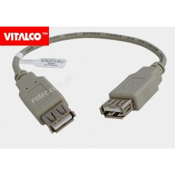 Adapter gniazdo USB A/gniazdo USB A z przewodem Vitalco
