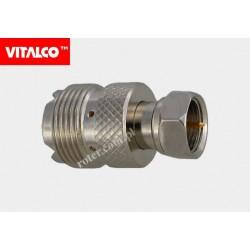 Adapter gniazdo UHF/wtyk F Vitalco