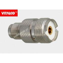 Adapter gniazdo TNC/gniazdo UHF Vitalco