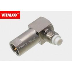 Adapter wtyk FME/gniazdo FME kątowy Vitalco