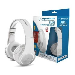 Słuchawki bluetooth Esperanza Flexi białe