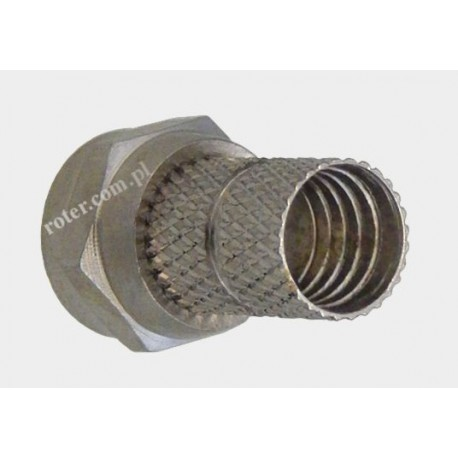 Wtyk F na kabel RG59 18mm