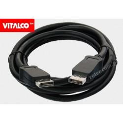 Przyłącze Display port 2,5m DP10 Vitalco