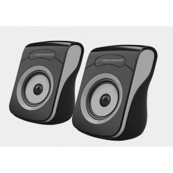 Głośniki komputerowe USB 2.0 Esperanza Flamenco czarno-szare