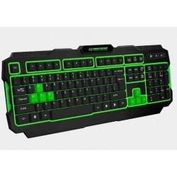 Klawiatura LED dla graczy USB Shadow zielona