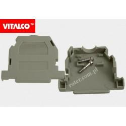 Obudowa złącza D-SUB 25 szara, zatrzaskiwana Vitalco