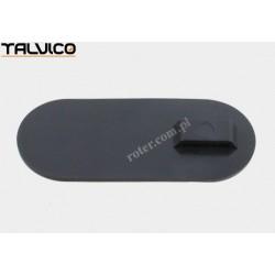 Tabliczka opisowa plastik czarna 24.5mm*58mm