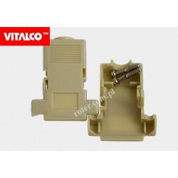 Obudowa złącza D-SUB 9 ivory, zatrzaskiwana Vitalco