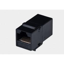 Adapter 2*gniazdo RJ45 kat.5 UTP keystone czarny