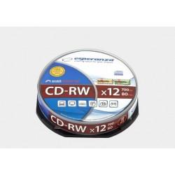 Płyta CD-RW Esperanza x12 - cake box 10szt.