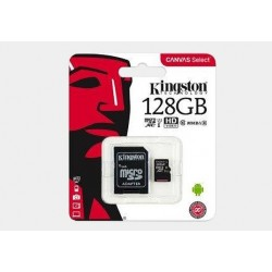 Karta pamięci mikroSDXC Kingston Select PLUS 128GB z adapterem