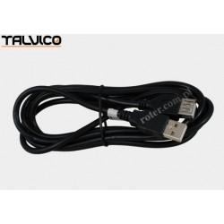 Przyłącze USB 2.0 wt.A/gn.A 1,8m DSKU21 czarne Talvico