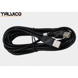 Przyłącze USB 2.0 wt.A/gn.A 3,0m DSKU21 czarne Talvico