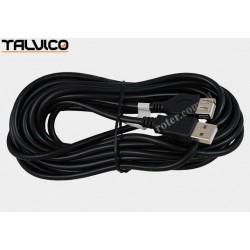 Przyłącze USB 2.0 wt.A/gn.A 5,0m DSKU21 czarne Talvico