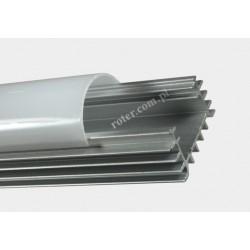 Profil LED szer. z 18/szer. w. 13/wys. 10mm dług. 1m / klosz, 2 x uchwyt, 2 x zaślepka