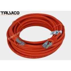 Patch cord SSTP kat.6a Cu LSZH 27AWG 10m 6P50 Talvico