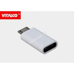 Adapter wtyk mikro USB/gniazdo USB C Vitalco