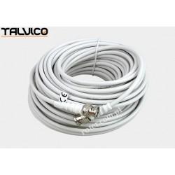 Przyłącze BNC RG58 białe. 18m BNK10 Talvico