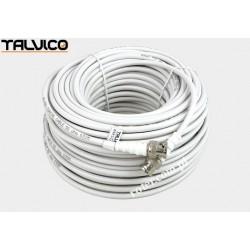 Przyłącze BNC RG58 białe. 30m BNK10 Talvico