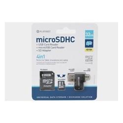 Karta pamięci mikroSD Platinet 32GB z adapterem+czytnik+OTG