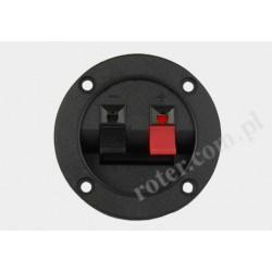 Gniazdo kolumny głośnikowej okrągłe przykręcane 2 pin