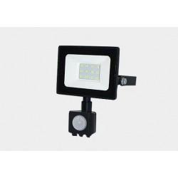 Naświetlacz LED SMD TIGA 10W 4000K czarny PIR