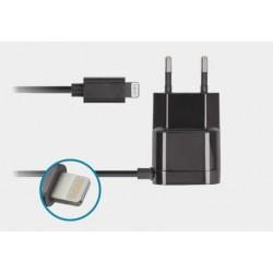 Ładowarka sieciowa z kablem 8-PIN 1A czarna NewShell