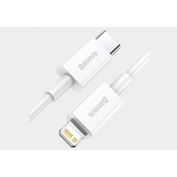 Przyłącze wtyk USB C/wtyk 8p 1,5m 20W biały Superior