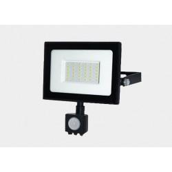 Naświetlacz LED SMD TIGA 30W 4000K czarny PIR