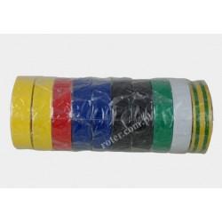Taśma izolacyjna PVC 10mx15mm mix