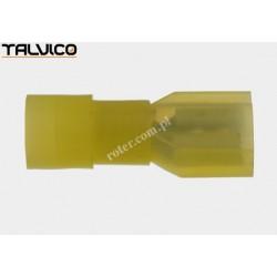 Konektor izol. p. 6.4*0.8 żółty Ż typ1 poliamidowy