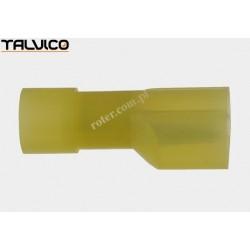 Konektor izol. p. 6.4*0.8 żółty M typ1 poliamidowy