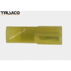 Konektor izol. p. 6.4*0.8 żółty Ż typ2 poliamidowy