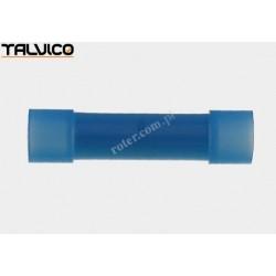 Konektor rurkowy.łącznik*2 niebieski poliamidowy