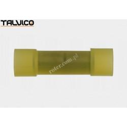 Konektor rurkowy.łącznik*2 żółty poliamidowy