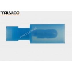 Konektor rurkowy niebieski M poliamidowy