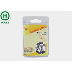 Wtyk F kompresowany RG6 blister 10szt Hanlong