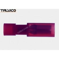 Konektor rurkowy czerwony Ż poliamidowy