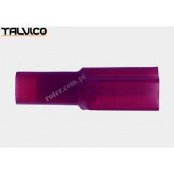Konektor izol. p. 6.4*0.8 czerwony Ż typ2 poliamidowy