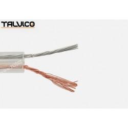 Przewód głośnikowy CCA, transparent, 2*0,22 (szpula)