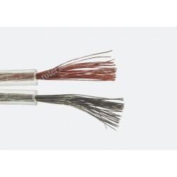 Przewód głośnikowy CCA, transparent, 2*0,75 (szpula)