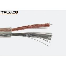 Przewód głośnikowy CCA, transparent, 2*1,00 (szpula)