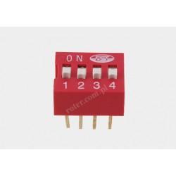 Mikroprzełącznik DIP 4pin